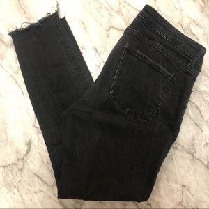 ZARA Rough Hem Black Skinny Jeans